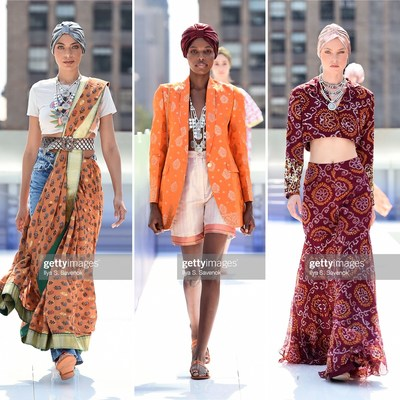 Three looks from the holiCHIC x Flying Solo NYFW Show