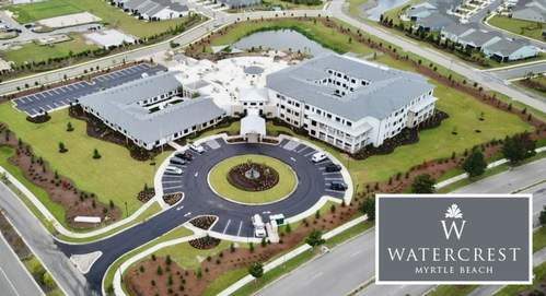 Watercrest Myrtle Beach Assisted Living and Memory Care is now accepting reservations. The community is currently under construction and scheduled to welcome residents at the end of this year.