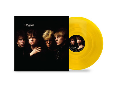 """Island Records and UMe announce the 40th-anniversary vinyl release of """"Gloria,"""" a limited edition 12"""" yellow vinyl EP to celebrate RSD Black Friday on Friday, November 26, 2021. Originally released as a single in October 1981, """"Gloria"""" is the second single to be taken from U2's second studio album October and has been a staple in U2's live set to this day. This very special anniversary release includes the studio version of """"Gloria"""" plus three live versions from three different decades."""