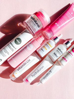 A selection of Indeed Labs products including the bestselling Hydralurontm Range