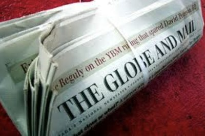 Globe and Mail sur le tapis rouge. (Groupe CNW/Le Syndicat Unifor)