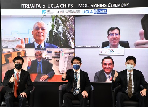ITRI, AITA and UCLA CHIPS signed an MOU on Sep. 14 to foster cooperation on AI chip development.