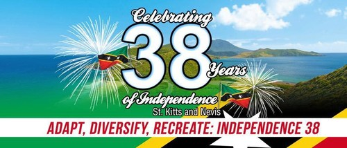 """The Federation of St Kitts and Nevis will be celebrating 38 years of independence on September 19th under the theme of """"Adapt, Diversify, Recreate: Independence 38."""" (PRNewsfoto/CS Global Partners)"""