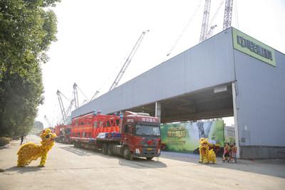 Zoomlion bat encore un record dans le domaine de la fabrication haut de gamme et exporte la grue sur chenilles au plus grand tonnage de Chine (PRNewsfoto/Zoomlion)