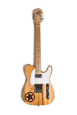 Jeep® brand and Wallace Detroit Guitars launch custom guitar sourced from old-growth wood from historic Detroit buildings. (Photo Credit: Jesse David Green)