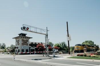 Railroad crossing.