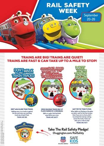 2021 Rail Safety Week Info - Union Pacific, Safe Kids World Wide, Chuggington