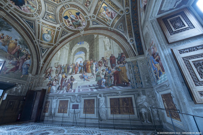 During the summer, temperatures can soar as high as 104°F/40°C in Rome, making Carrier air conditioning a welcome addition to the Raphael Rooms. © Governatorato S.C.V. - Direzione dei Musei