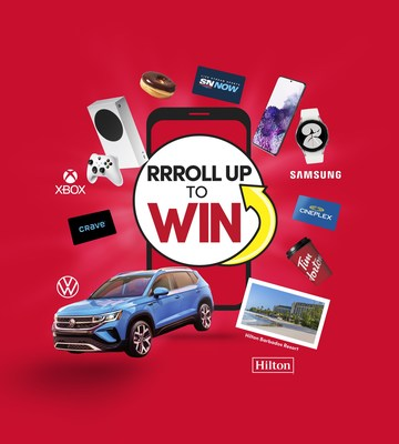 Roll Up To Wintm is back starting today and every Roll wins! It's just the second time ever that Tim Hortons guests can play Roll Up twice in the same year! (CNW Group/Tim Hortons)
