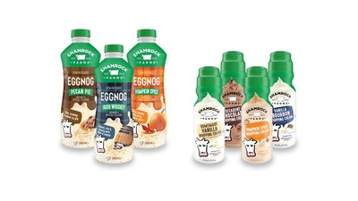 New Seasonal Eggnog and Whipping Cream Flavors from Shamrock Farms