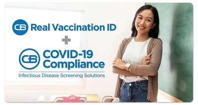 The essential tool kit is made up of two solutions, CB COVID-19 Compliance and RealVaccinationID.com, which comprehensively address the challenges and risks schools face with managing COVID-19 vaccines, boosters, waivers, and diagnostic test results.