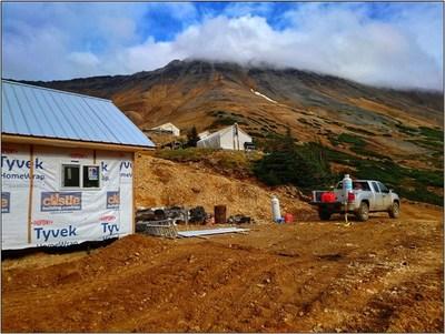 Figure 3. Berg camp construction progress. (CNW Group/Surge Copper Corp.)