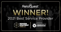 ReloQuest Inc. Wins Best Service Provider at 2021 Serviced Apartment Awards for Pioneering Patent-pending Solutions