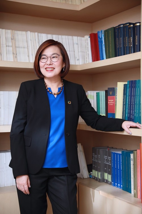 Dr. Vilawan Mangklatanakul, Thailand's first woman candidate for the International Law Commission for the term 2023-2027. She is also the only woman candidate from the Asia Pacific region