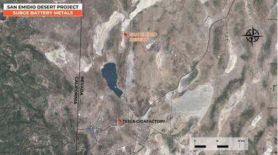 """San Emidio Lithium Project Map"""