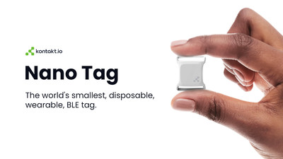 The Kontakt.io BLE Nano Tag is designed to solve for worker safety, patient and visitor experience use cases for the healthcare, hospitality and events industries. (PRNewsfoto/Kontakt.io)