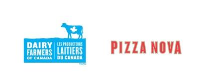 Logo : Les Producteurs laitiers du Canada & Pizza Nova (Groupe CNW/Dairy Farmers of Canada)