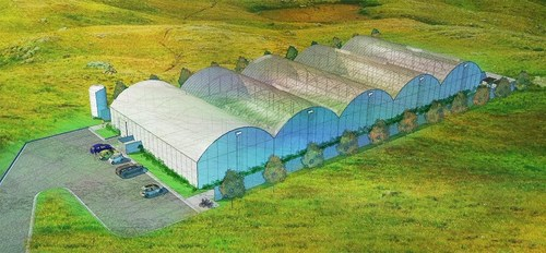 Rendering of Potential Cultivation Site in Orange, MA