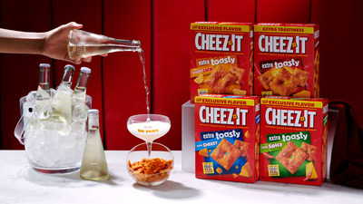 SIP, SIP HOORAY! CHEEZ-IT® AND WINE TAKES AN EXTRA TOASTY TWIST WITH A SPARKLING NEW PAIRING