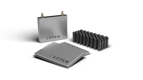 The LytCell EV™ lithium-sulfur (Li-S) battery platform is designed to deliver three times (3X) the gravimetric energy density of conventional lithium-ion (Li-ion) batteries and can be produced in cylindrical, pouch, and prismatic formats.
