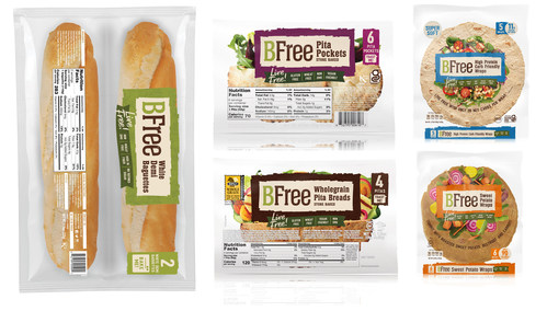 BFree Foods announces that Sprouts Farmers Market will offer five of its nutritious products starting this month: High Protein Carb Friendly Wraps, White Demi Baguettes, Wholegrain Pita Breads, Sweet Potato Wraps, and, a Sprouts' exclusive, Pita Pockets.