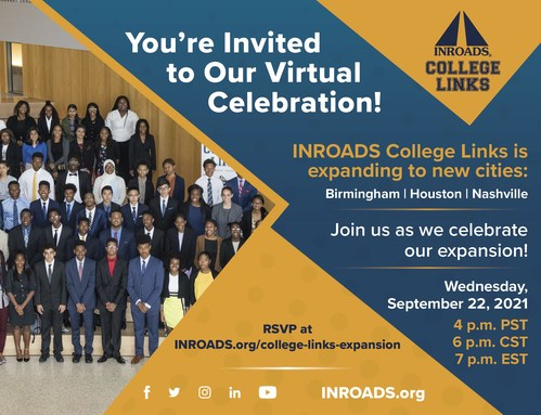 INROADS celebrates the expansion of the INROADS College Links program into Birmingham, Houston and Nashville.