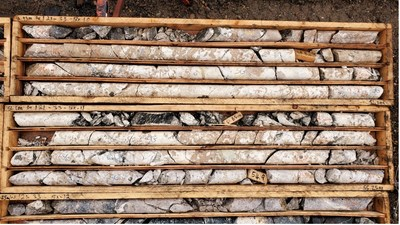 REE Mineralized Carbonatite from WI21-33 (47-55 metres downhole) (CNW Group/Defense Metals Corp.)