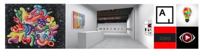 "L) Artist Kenny Scharf ""Blobzic"" ARTXPUZZLES Collector Edition. (M) ARTXARTISTS x ARTXPUZZLES Platform, Exhibition ""Memory Mapping"". (R) ARTSY and ARTXARTISTS Visit Website: www.artxpuzzles.com for more."