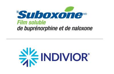 Logos de SUBOXONE en film et d'Indivior (Groupe CNW/Indivior Canada Ltd)
