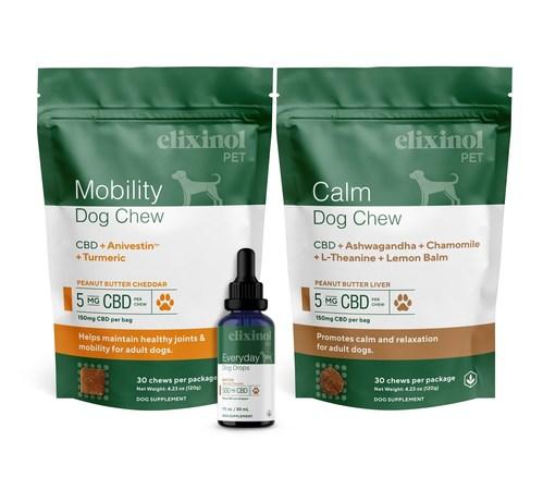Mobility Dog Chew, Everyday Dog Drops, Calm Dog Chew
