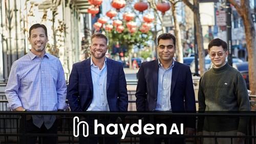 Hayden AI co-founders Michael Byrne, Chris Carson, Vaibhav Ghadiok, and Bo Shen.