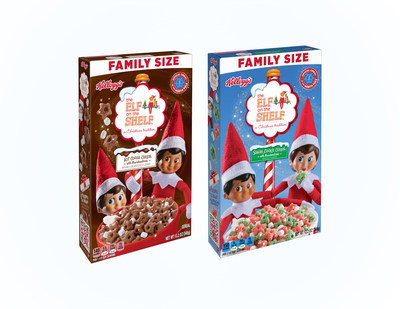 For a limited time, eat breakfast like Santa's little helpers with new Kellogg's® The Elf on the Shelf® Hot Cocoa Cereal and Kellogg's® The Elf on the Shelf® Sugar Cookie Cereal.
