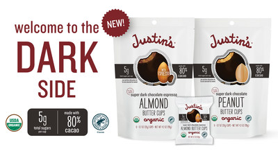 Justin's Welcomes You to The Dark Side with New Super Dark Chocolate Nut Butter Cups