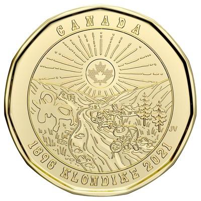 加拿大皇家铸币局新发行的一美元流通硬币讲述了克朗代克淘金热的共同历史