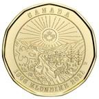 La nouvelle pièce de circulation de un dollar de la Monnaie royale canadienne évoque l'histoire commune de la ruée vers l'or du Klondike