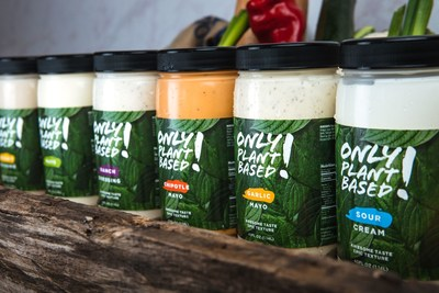 Only Plant Based! products contain no eggs or dairy and are heatable and shelf stable--no refrigeration required. In addition to Original Mayo, consumers and restaurants can now find Chipotle Mayo, Garlic Mayo, Ranch Dressing and Sour Cream in 11-oz. squeeze bottles and 40-oz. jars.