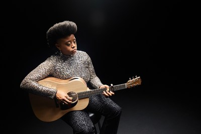 Amythyst Kiah with the Gibson Generation Collection G-45. (PRNewsfoto/Gibson)