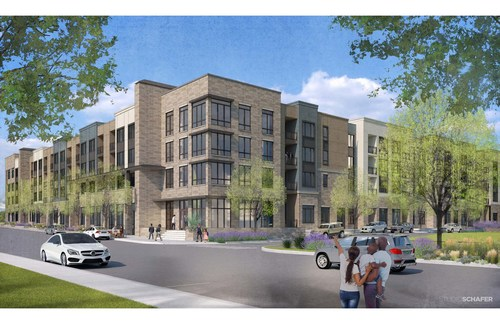 RENDERING:  Keene at The District: Embrey Announces Land Acquisition Closing For Keene at The District in Centennial, Colorado