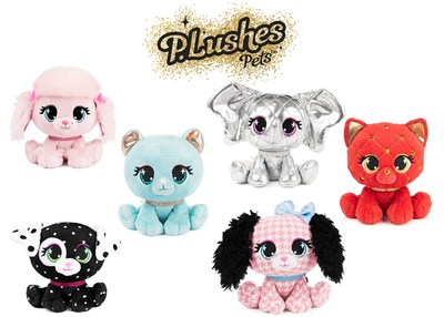 Spin Master unveils designer P.Lushes Pets™ plush collection in collaboration with six social media stars who have staked claim on their own P.Lushes Pets character. (CNW Group/Spin Master)
