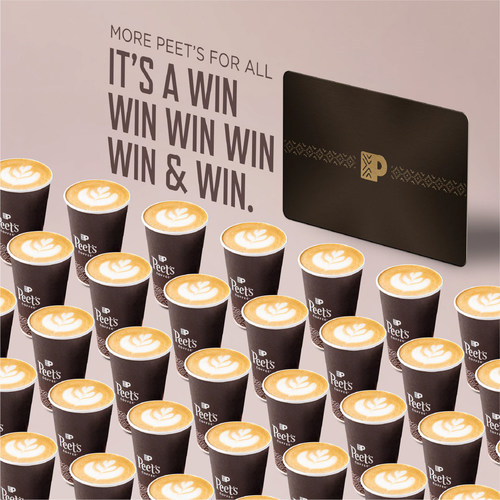 """PEET'S COFFEE CELEBRATES """"NATIONAL COFFEE DAY"""" WITH EXCLUSIVE PEET'S BLACK CARD GIVEAWAY"""