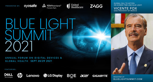 Blue Light Summit 2021 brings together leaders in healthcare and consumer electronics to discuss increasing screen time and blue light exposure, sharing what each of their respective fields is doing to address this global health challenge. Register at www.bluelightsummit.com.