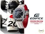 """Casio lança o modelo EDIFICE em colaboração com a Honda Racing, apresentando o """"Championship White"""""""