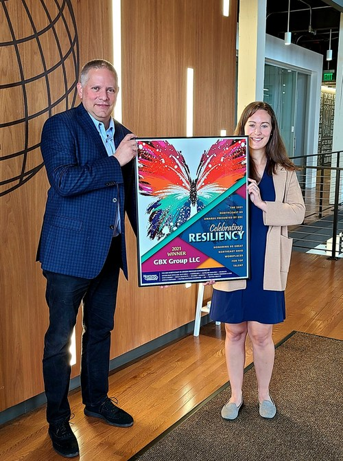 Drew Sparacia, GBX Group CEO and Catherine Zelenkofske, GBX Group Director of People Operations