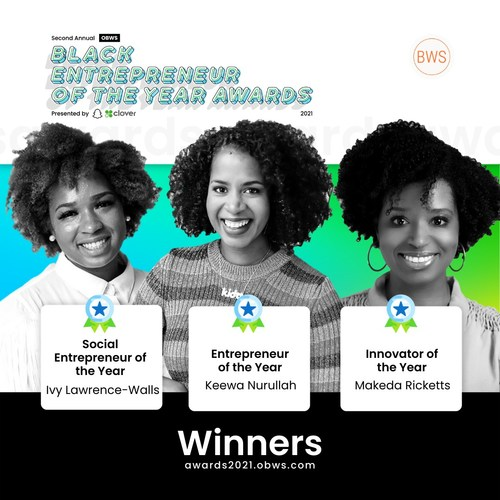 The OBWS Entrepreneur of The Year Award Winners presented by Snap Inc. & Clover