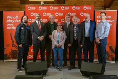 Lancement du processus de candidature des Jeux d'hiver du Canada 2027. Photo : Sarah Lewis (Groupe CNW/Conseil des Jeux du Canada)