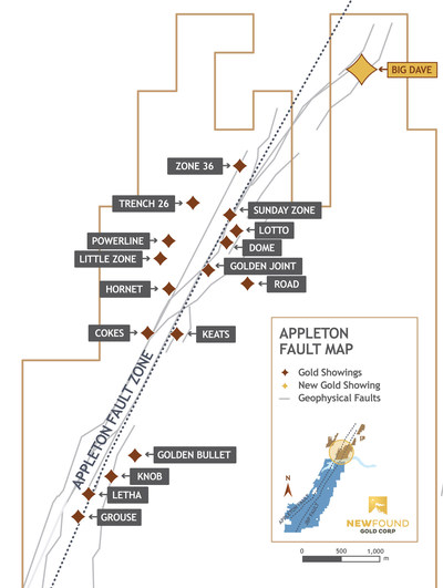 Figure 1. Big Dave Plan View (CNW Group/New Found Gold Corp.)