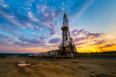 Horizontal drilling rig targeting the Wolfcamp shale in the Permian Basin.