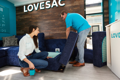 Customers can then make their purchase with the Lovesac associate for products to be delivered to their homes in as little as 1-2 weeks.