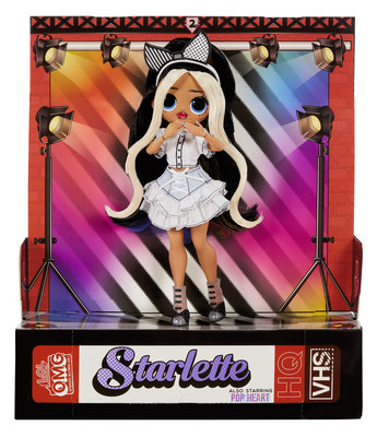 The new L.O.L. Surprise! O.M.G™ Movie Magic™ Fashion Dolls feature the 4 new Silver Screen Queens from the movie: Starlette, Ms. Direct, Spirit Queen, & Gamma Babe.