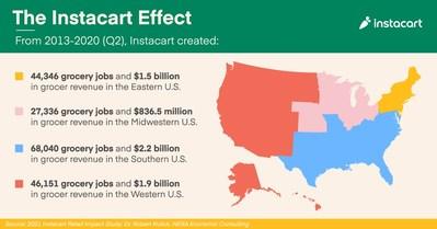 The Instacart Effect by region